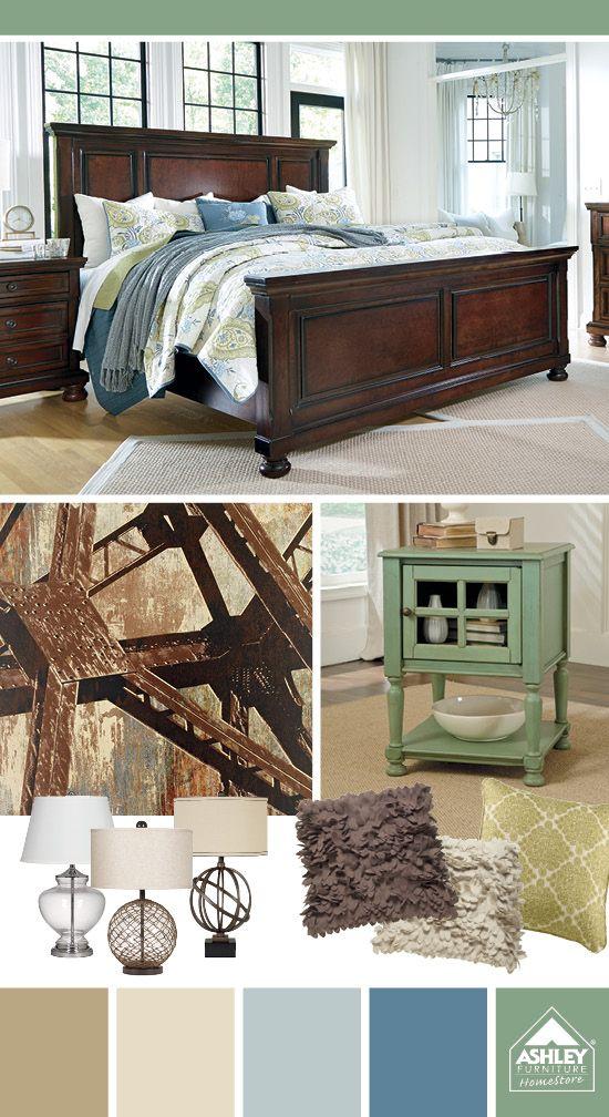 mint green light blue beige porter bed ashley furniture homestore want