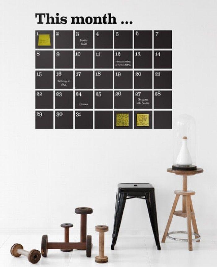 tolle bastel und diy ideen mit tafelfarbe gute idee f r einen stylischen kalender wohnen. Black Bedroom Furniture Sets. Home Design Ideas