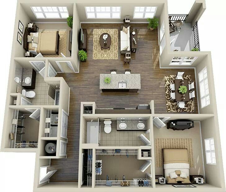 Pin by Ivet Valle on depas Pinterest House, 3d house plans and