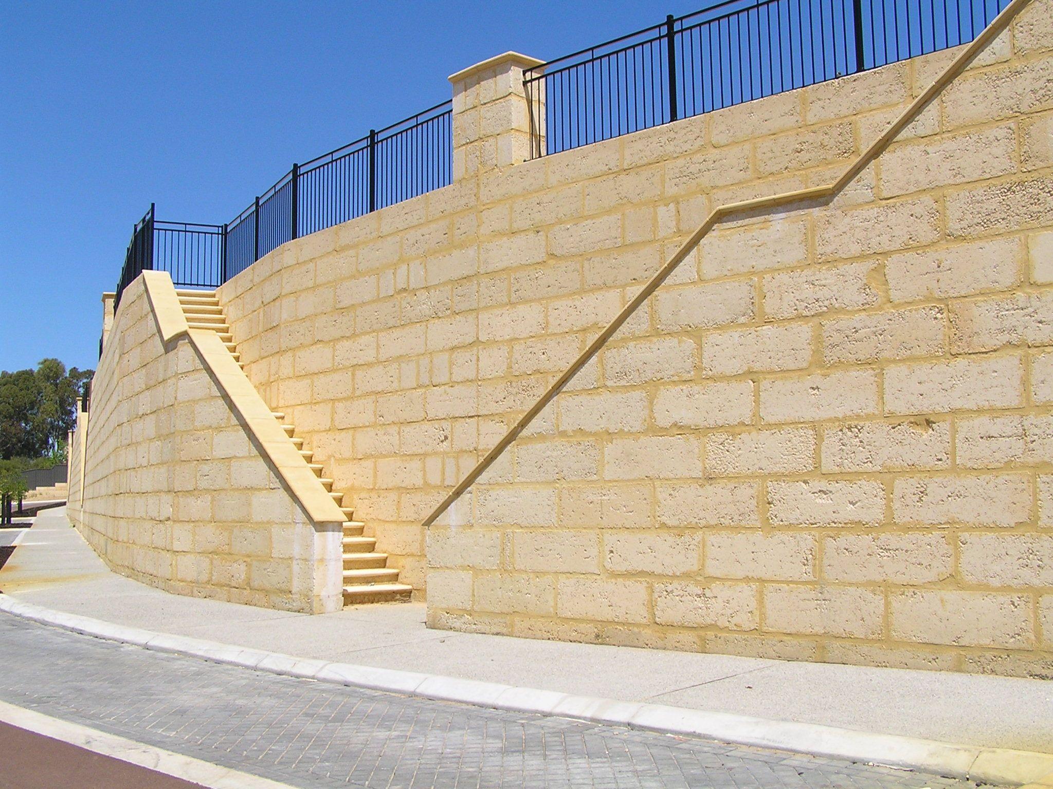 Perth Western Australia Limestone Wall Retaining Wall Limestone Block