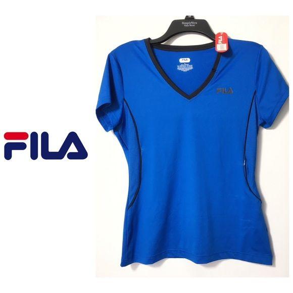 a4f845593dce Womens Fila Sport cobalt Blue Shirt Sz M NWT Fila Sport Women s core racer  performance media
