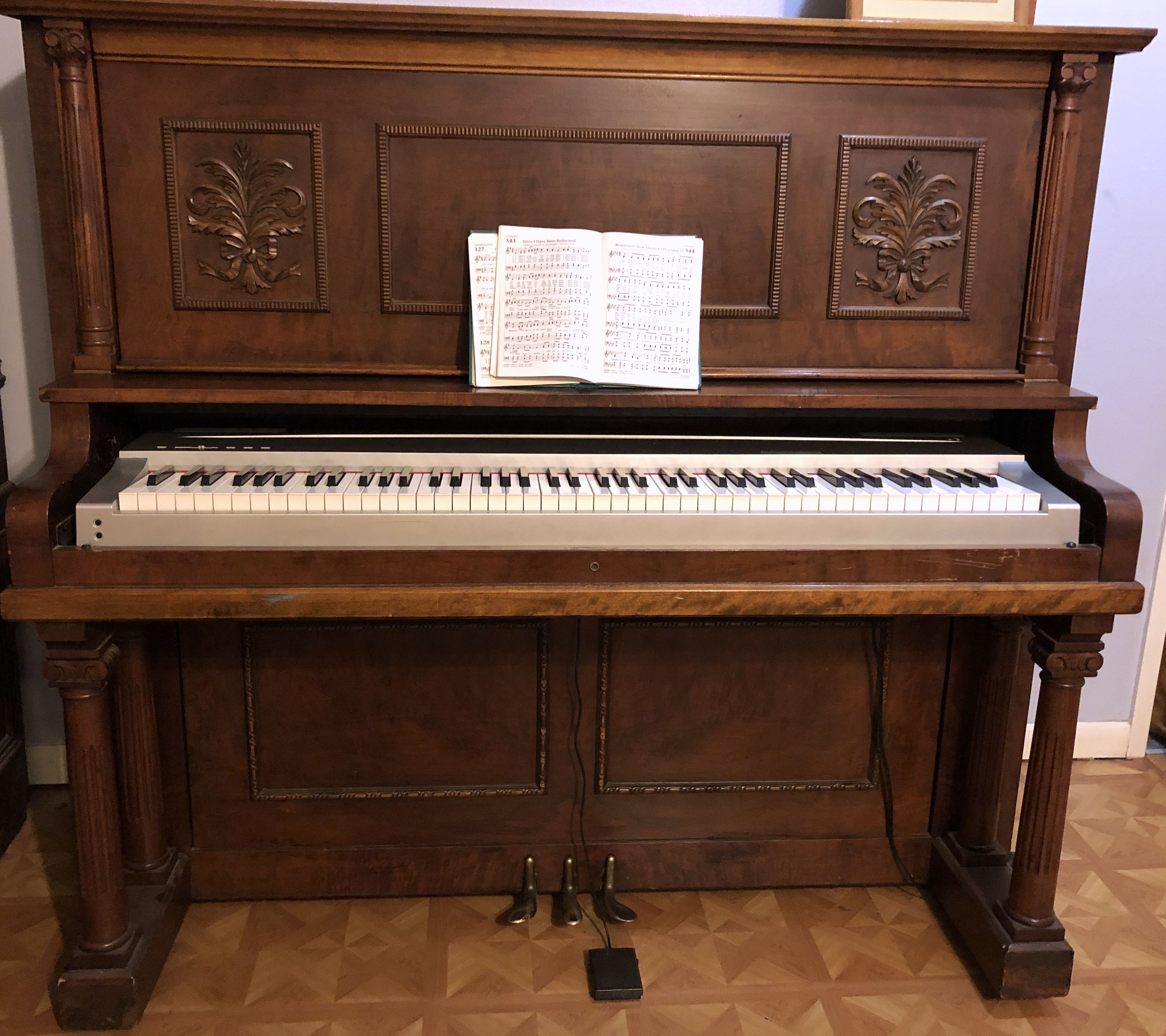 Re Purposing An Old Upright Piano To A Digital Piano Keyboard