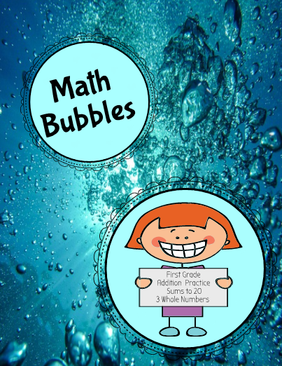 An activity for math centers or for worksheets, Math Bubbles helps ...