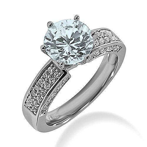 aquamarine diamond wedding ring