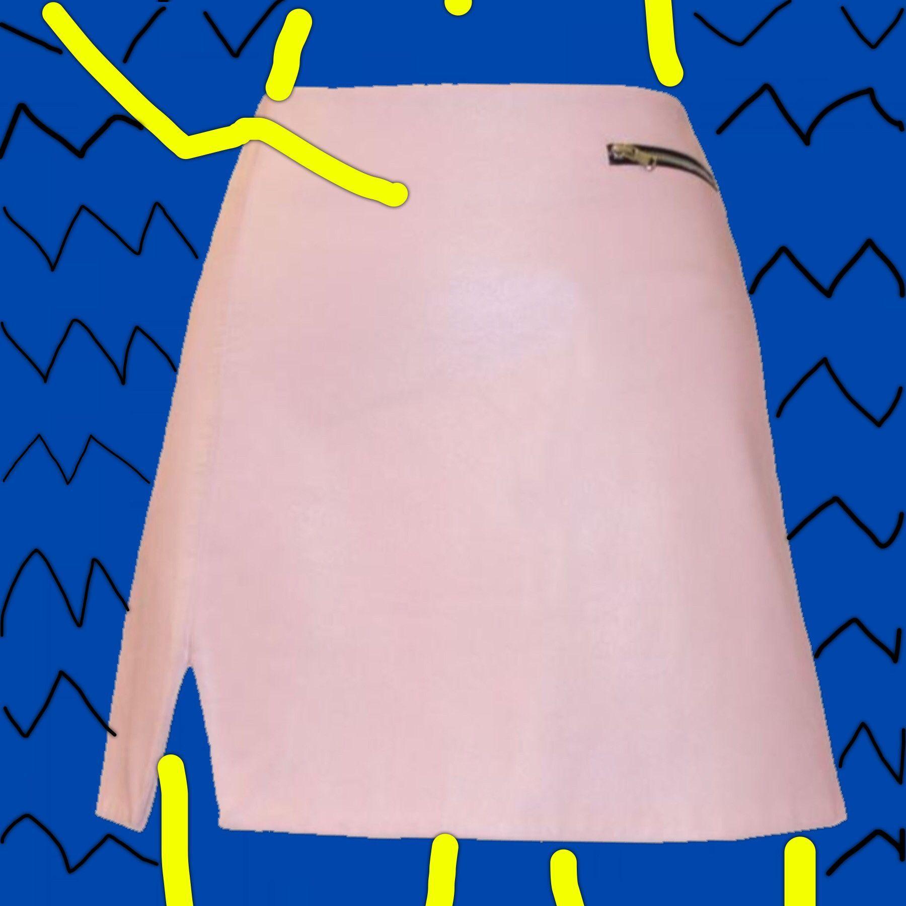 Anita Leather Skirt in Blush Pink
