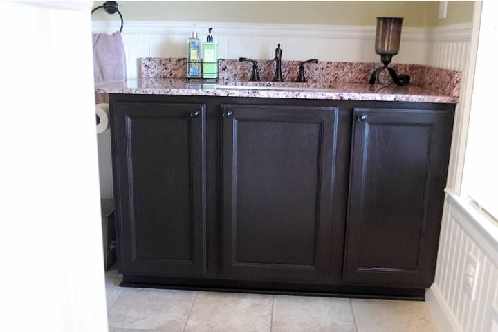 How to apply gel stain on oak cabinets
