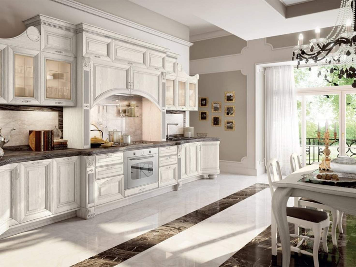 Ricambi Cucine Lube Napoli decapÉ kitchen with handles pantheon | lacquered kitchen