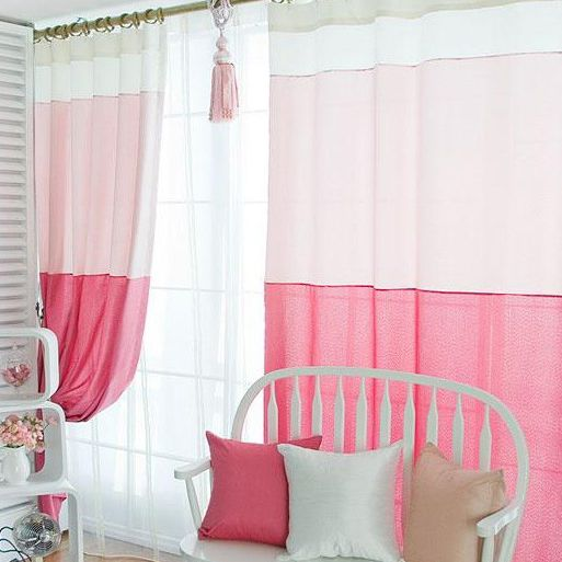 S Pink Bedroom Curtains