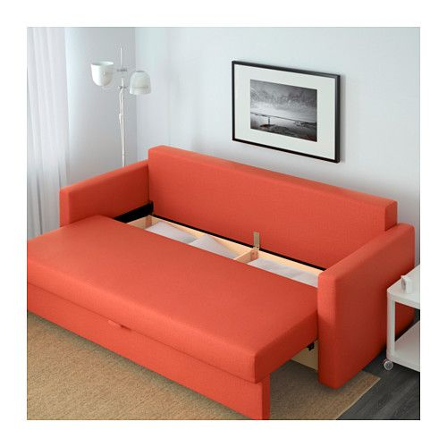 Chaise Lounge Sofa FRIHETEN Sofa bed Skiftebo dark orange IKEA