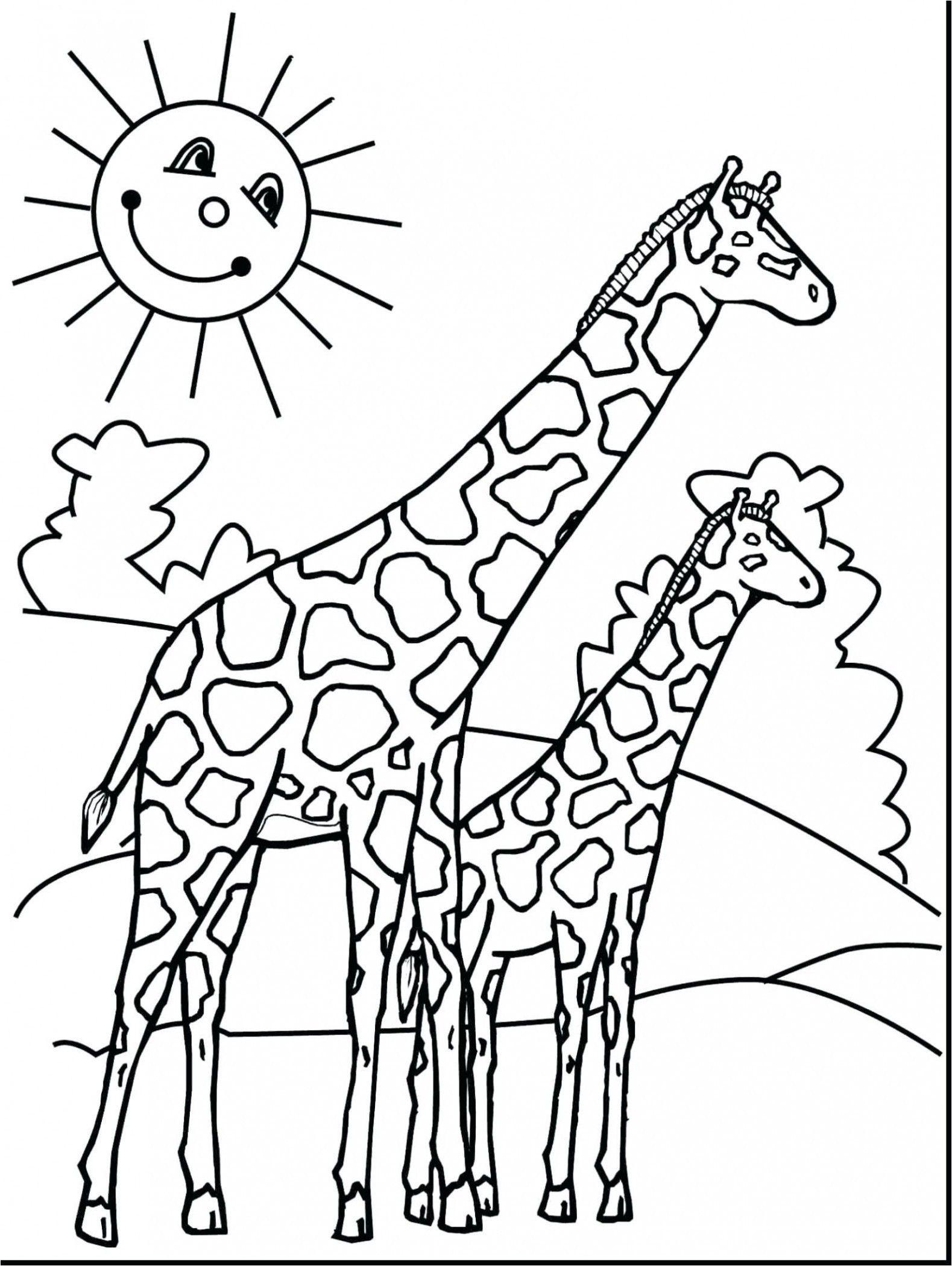 Baby Giraffe Malvorlage