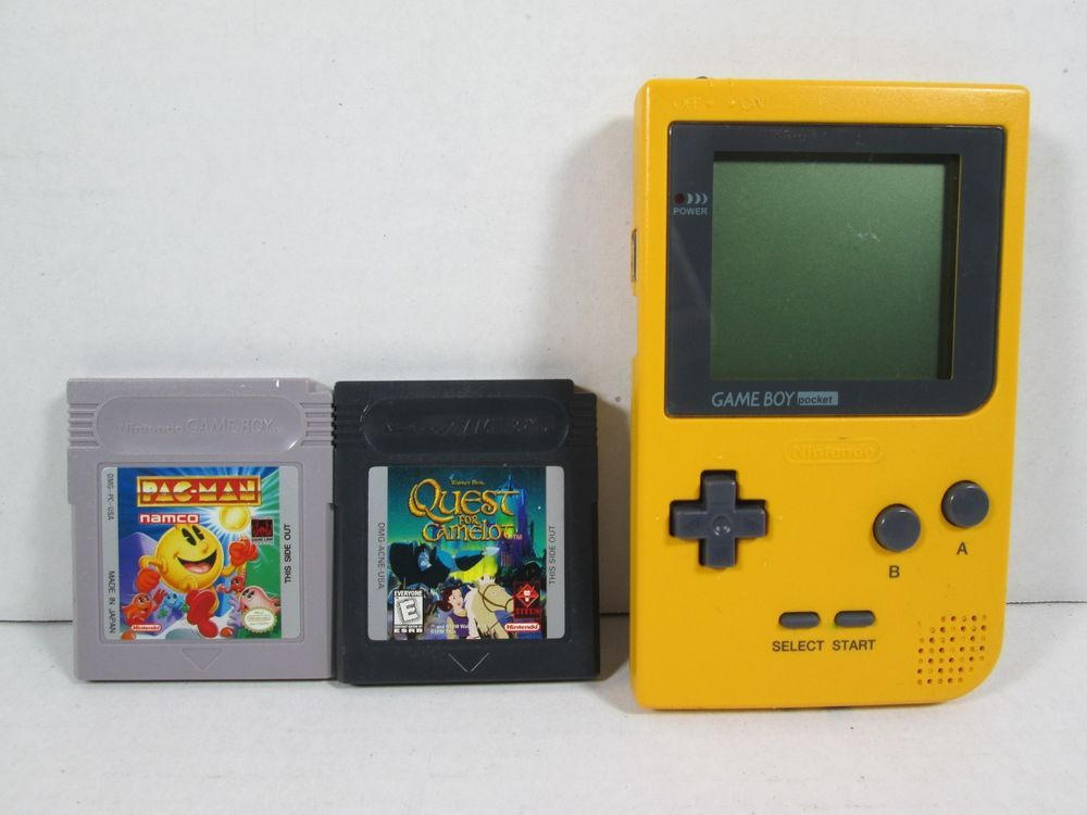 Nintendo GAMEBOY Pocket YELLOW Console JAPAN TESTED MGB-001
