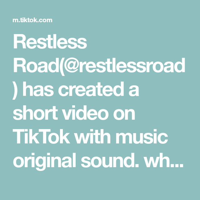 Restless Road Restlessroad Has Created A Short Video On Tiktok With Music Original Sound Who Knew All Of These Songs Fyp In 2021 The Originals Music Mario Gomez