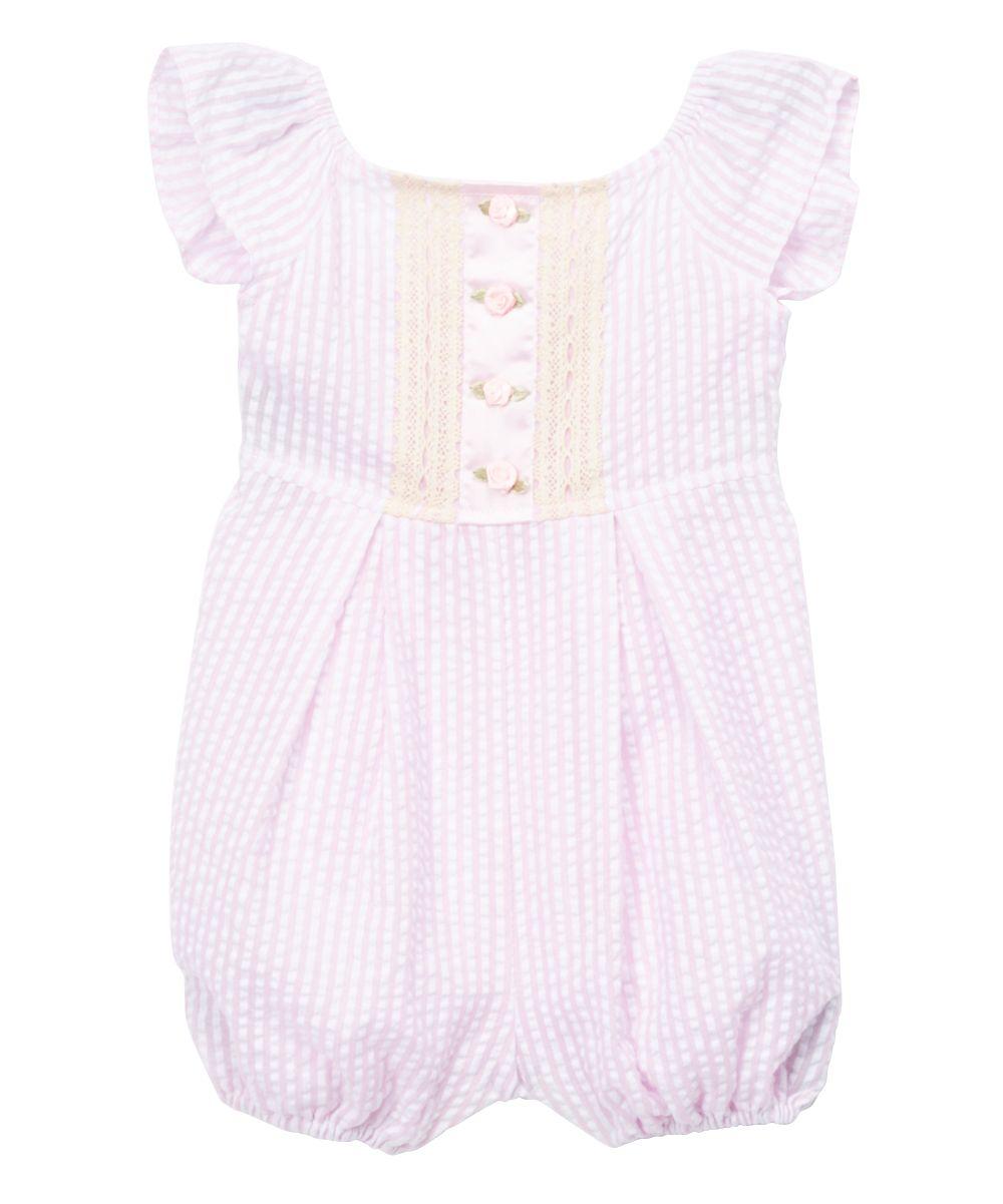 8adcb00b9b50 Pink Floral Seersucker Romper - Infant   Toddler
