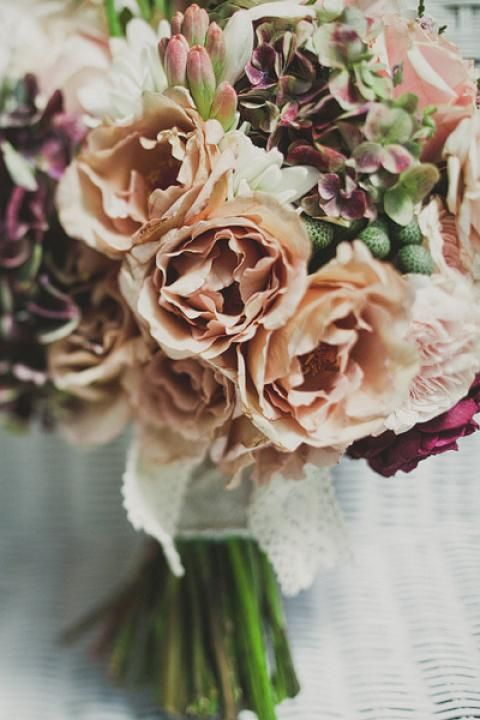 Soft romantic 'just picked' look of assorted roses by Always Flowers.  Beautiful!