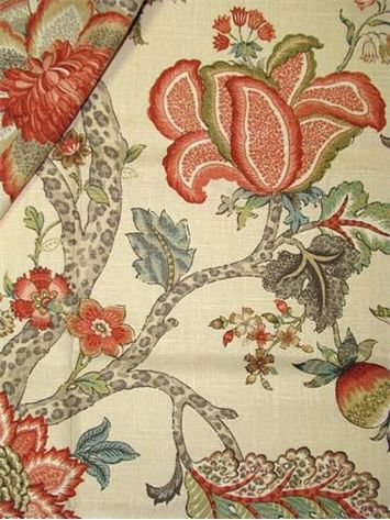 Malawi Khaki In 2020 Floral Pillows Floral Print Fabric