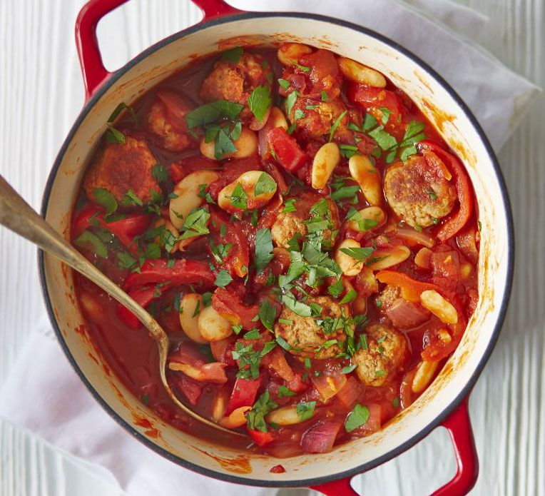 Spanish meatball butter bean stew recipe pinterest smoked bbc good food forumfinder Images