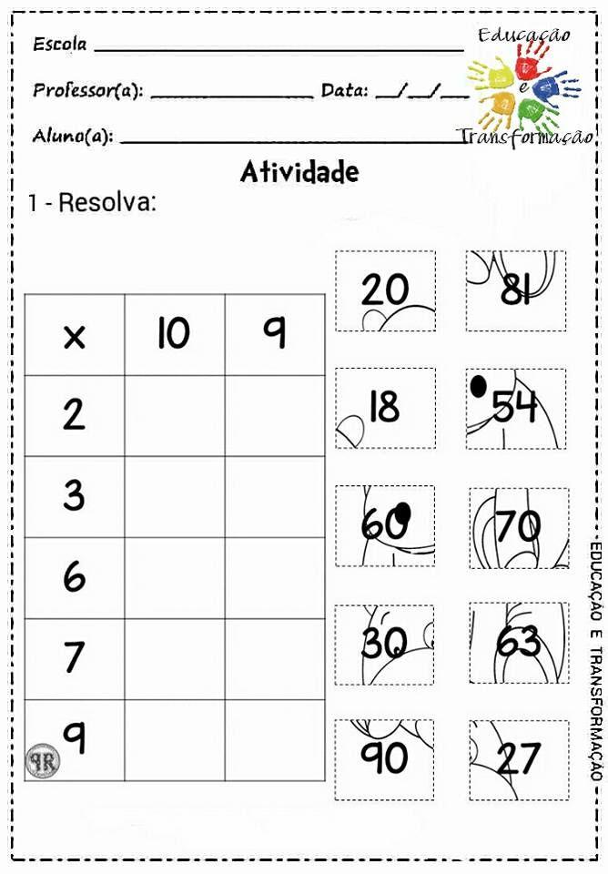 Pin von Darja Arh auf Učni listi - matematika 3R | Pinterest ...