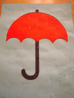 Spring project or Letter U project  Great idea for rain.