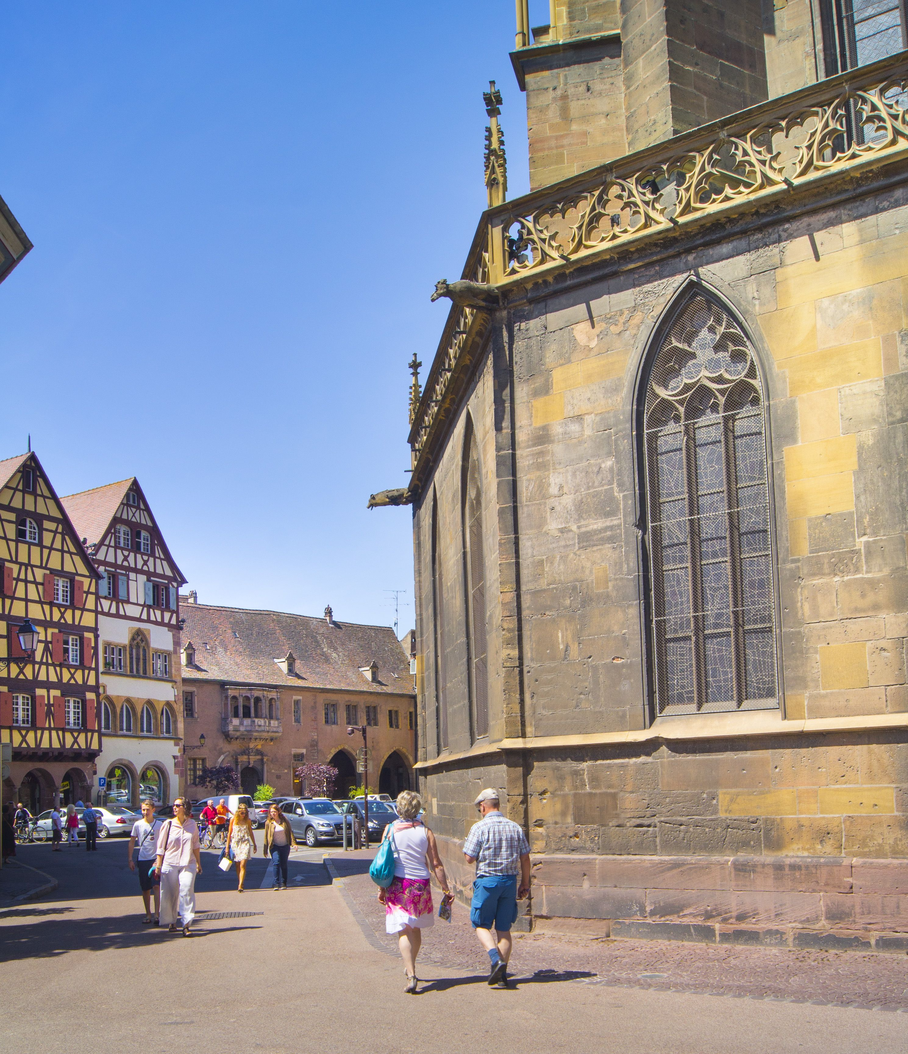 La place de la cath drale colmar alsace france www Colmar beauty and the beast