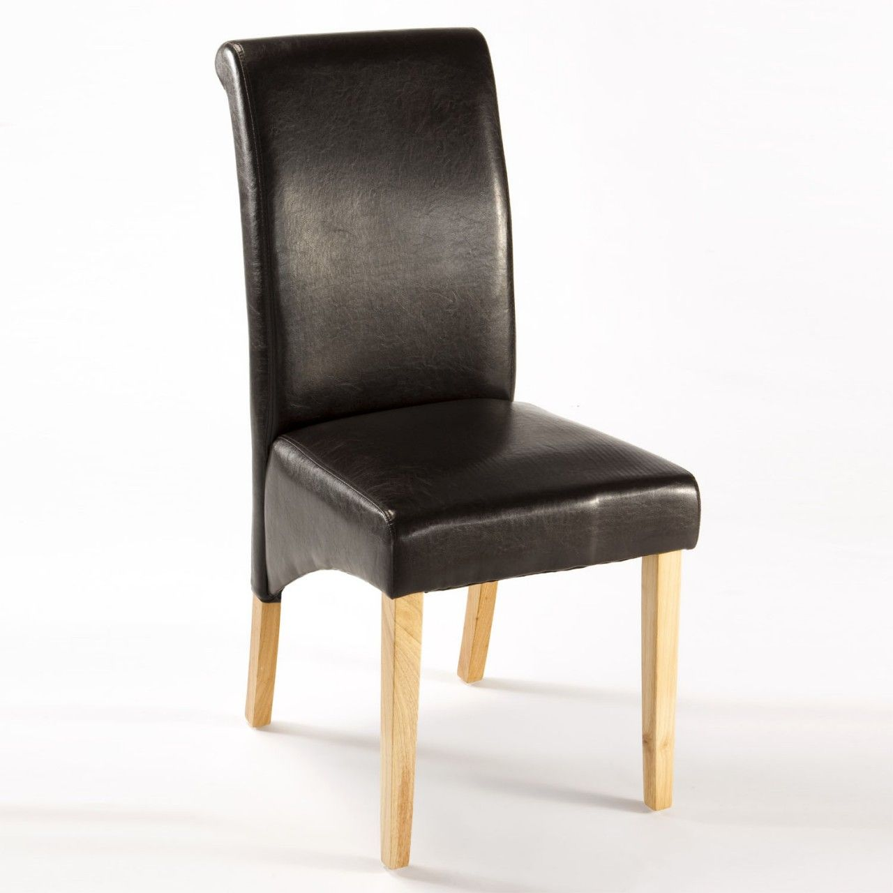 Easy On The Eye Black faux leather dining chair covers