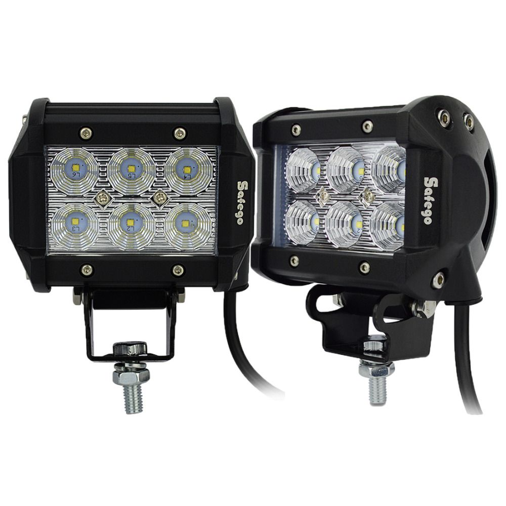 2pcs 4inch offroad led light bar 18w led work lamp near far spot 2pcs 4inch offroad led light bar 18w led work lamp near far spot flood light 12v aloadofball Image collections