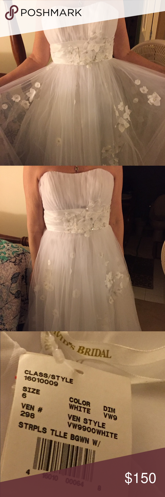 Size 6 wedding dress  White wedding dress new with tags size   Wedding dress brands