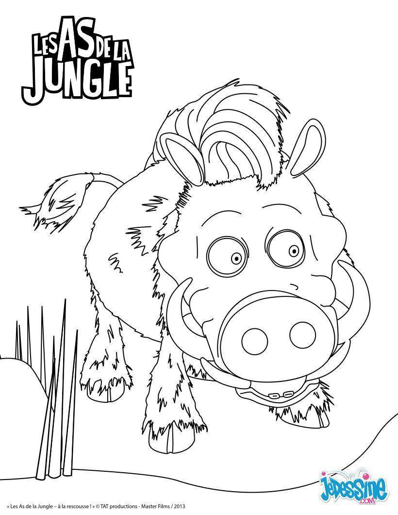 Pingl par lmi kids sur the jungle bunch les as de la - Coloriage as de la jungle ...
