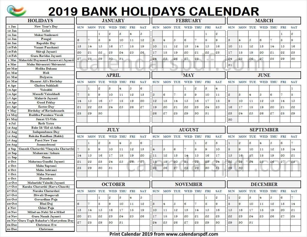 Calendar 2019 India Holidays With Images Calendar Template