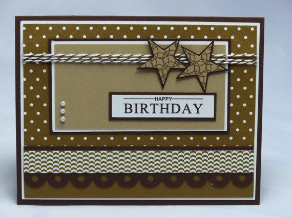 Image result for mens birthday cards to make homemade cards stampin up handmade greeting card happy birthday card bookmarktalkfo Gallery