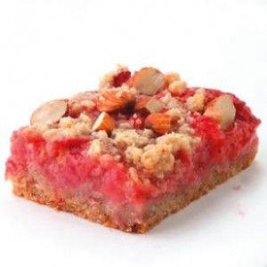 Strawberry-Rhubarb Bars.....from eating well.com