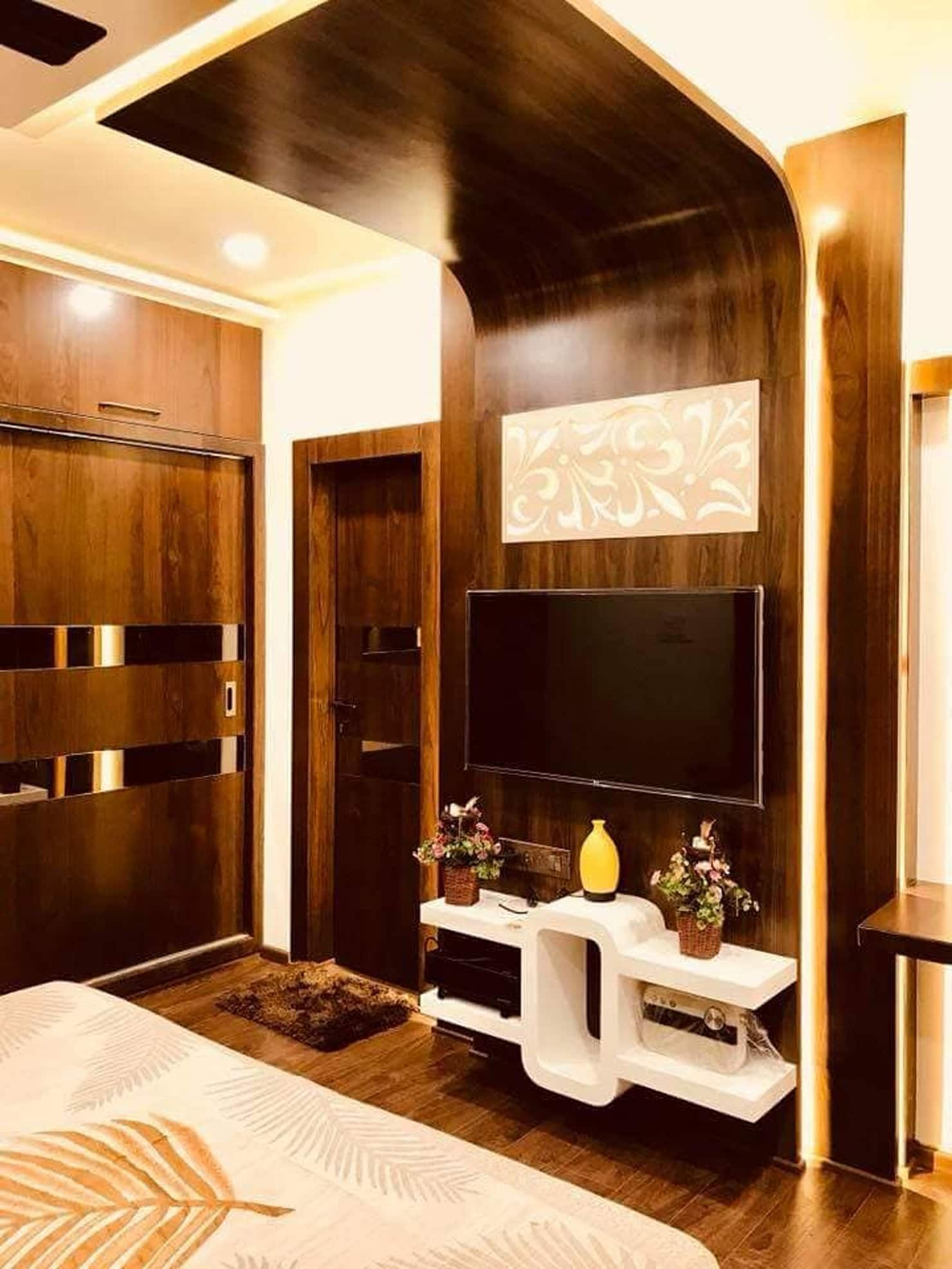 Lcd Panel Design Interior: Interiors Asian Style Bedroom By Swastik Architects Asian