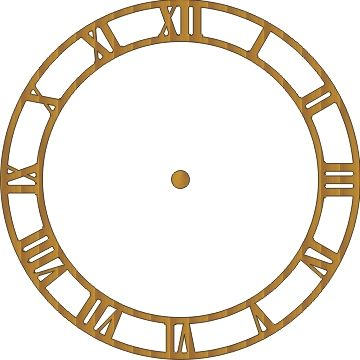 Free Paper Clock Faces | thick card analog clock selected click the ...