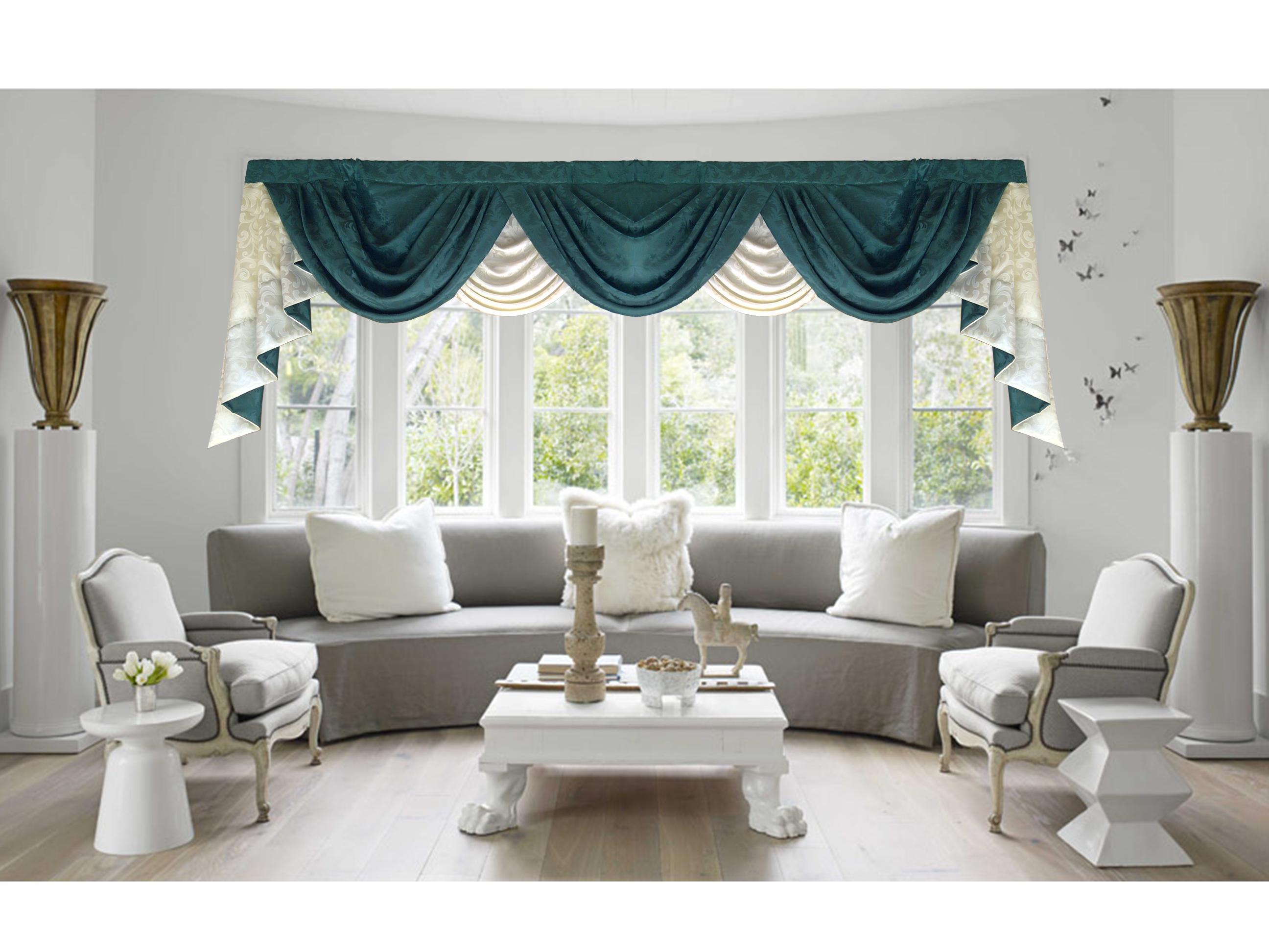 Window treatment ideas for a sunroom  swag valance  curtains  pinterest