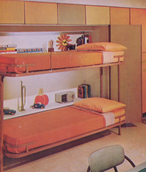 Mid Century Modern Kids Bedroom Ideas: Orange Kids Room 1974 In 2019