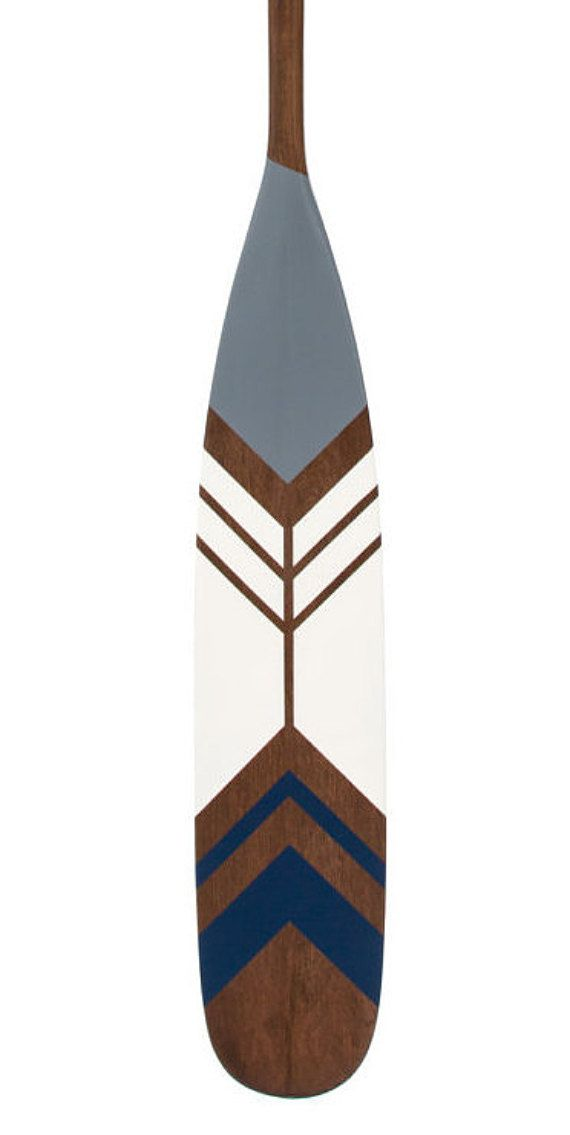 Collection ARCTIC The ICEBERG Hand Painted Wood Canoe Paddle Made From Canadian Maple