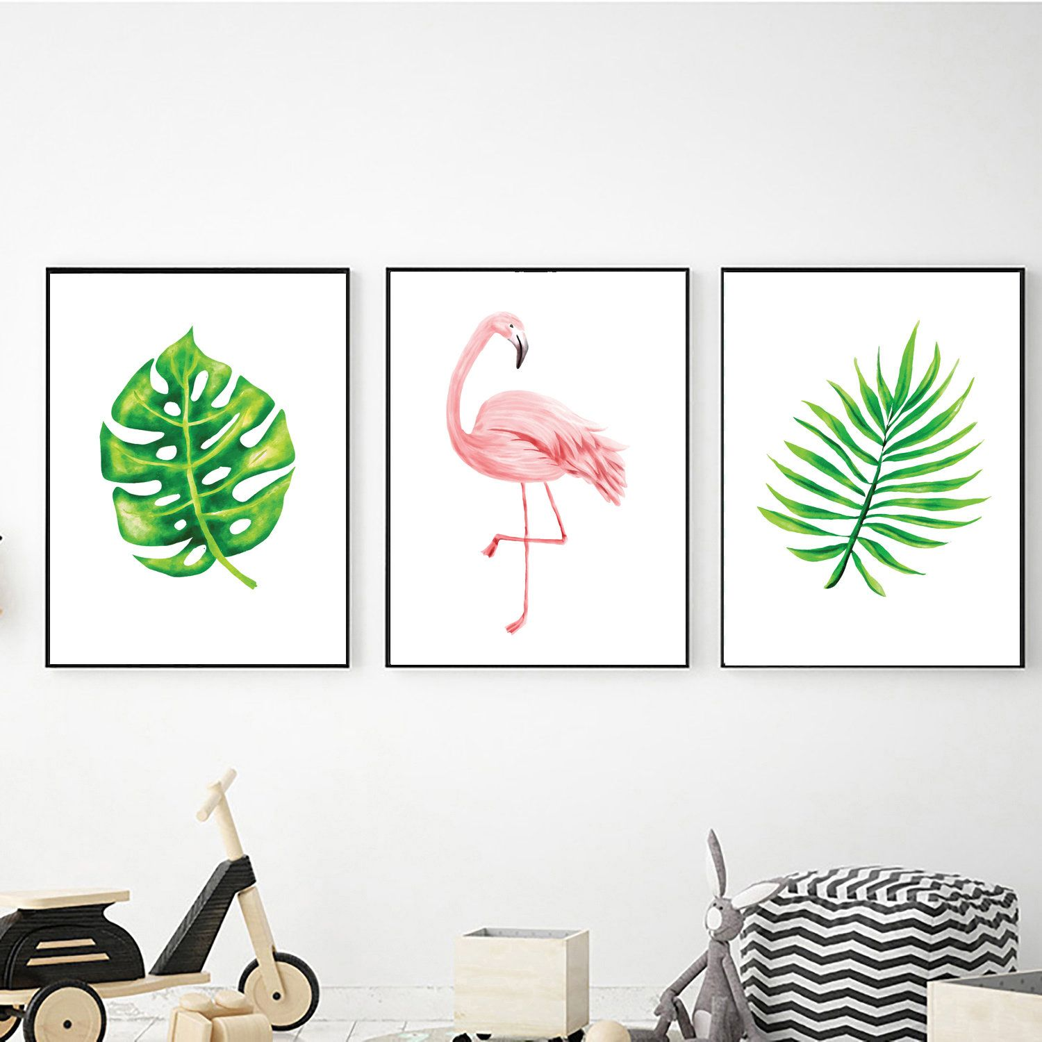 Tropical Prints Digital Download Flamingo Wall Art Printable Wall Art Tropical Poster Tropical Wall Art Leaves Wall Art Leaves Prints Flamingo Wall Art Etsy Wall Art Tropical Wall Art