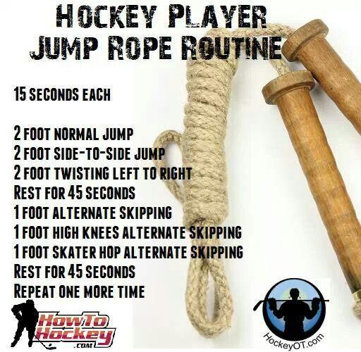 Hockey Player Jump Rope Routine Hockey Training Hockey Workouts Inline Hockey