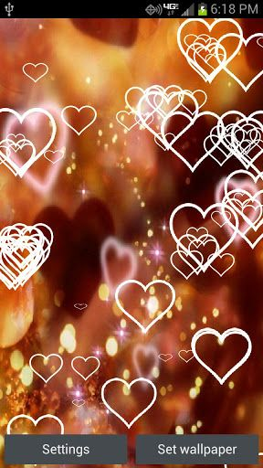 Glitter Hearts Live Wallpaper Android Live Wallpaper Gallery
