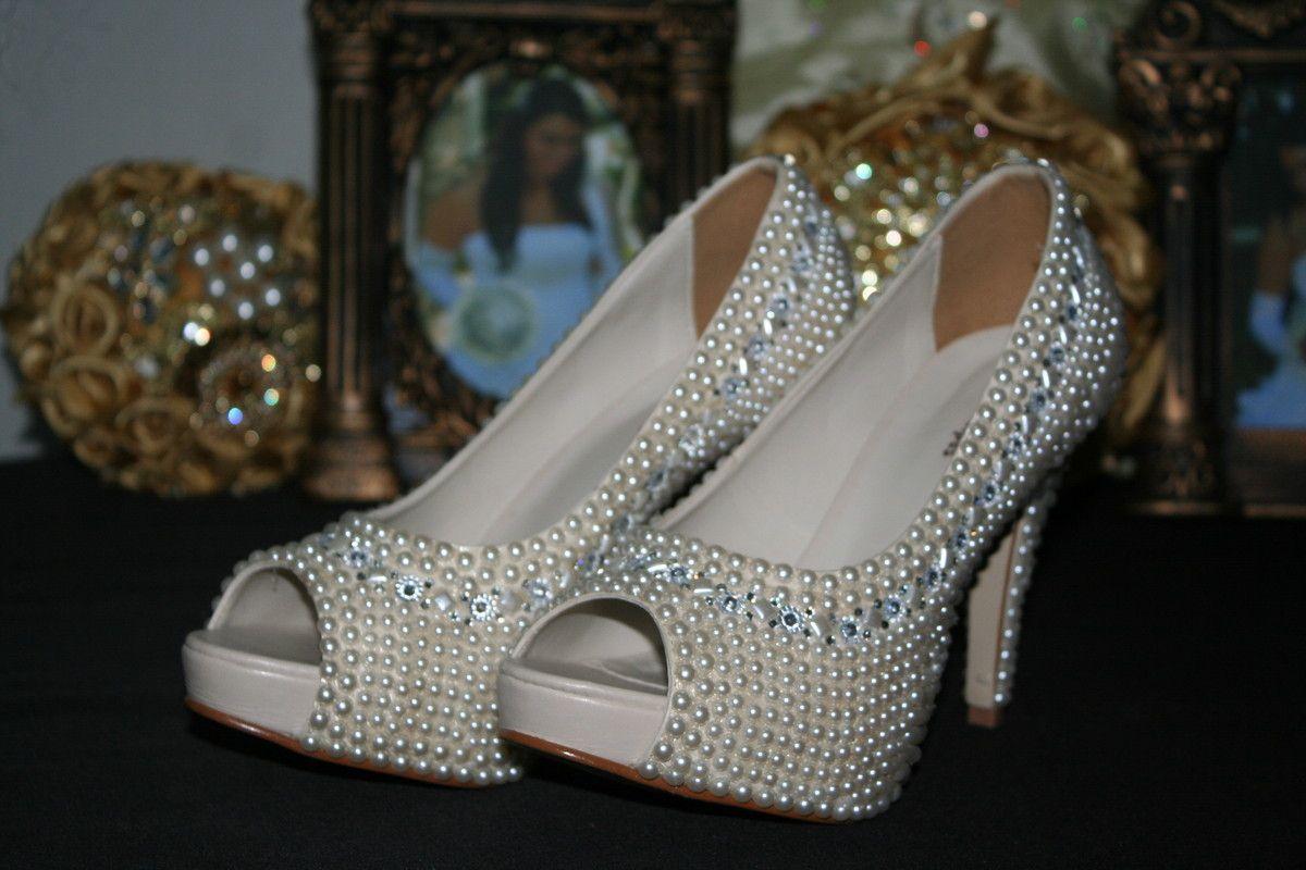 1bd4571616 Sapato de Pérolas
