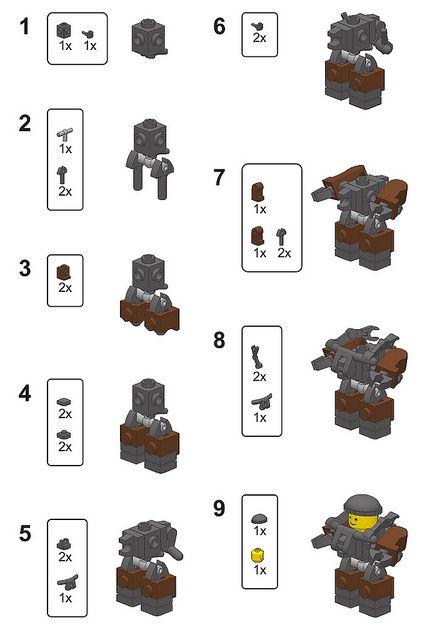 Mini Hardsuit Instructions Lego Mf0 Pinterest Lego Lego