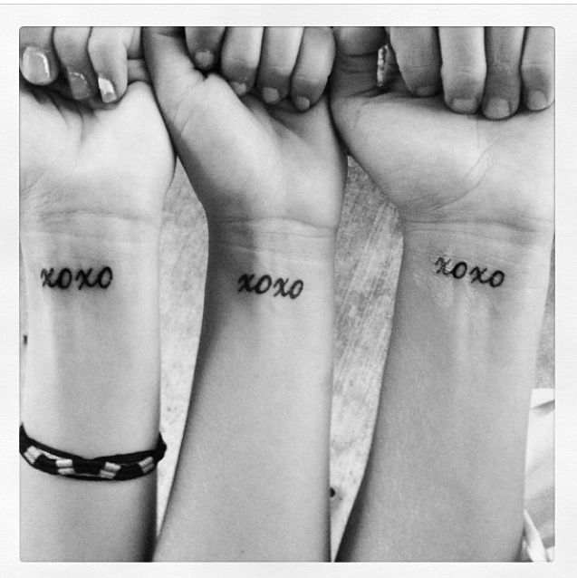 Xoxo Tattoo Sign Everything Xoxo For My Sweeties Tattoos Friend Tattoos Tattoos For Daughters