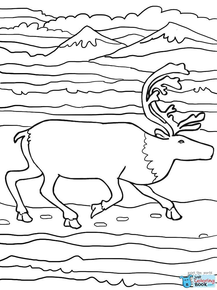 Running Elk Coloring Page