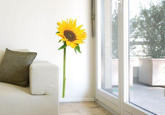 Sunflower Single Wall sticker   wall-art.com #sunflowerbedroomideas