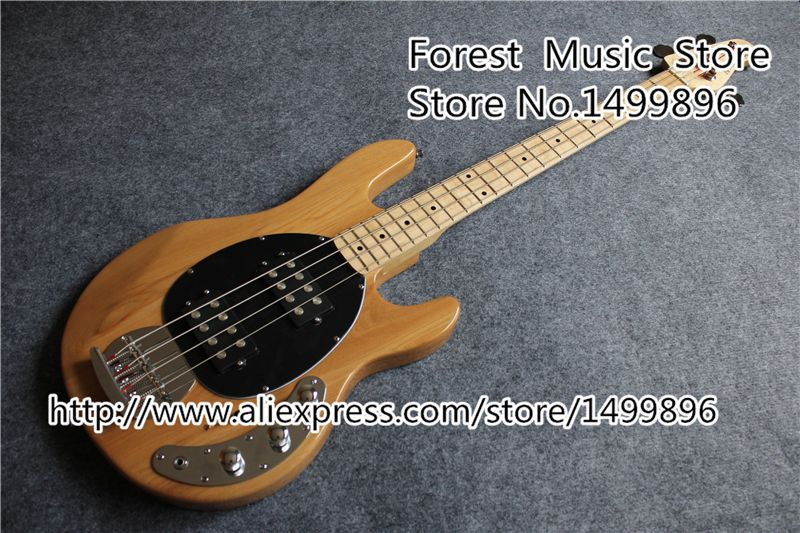 High Quality Musicman Bass Guitar In Nature Wood Color 4 String Bass