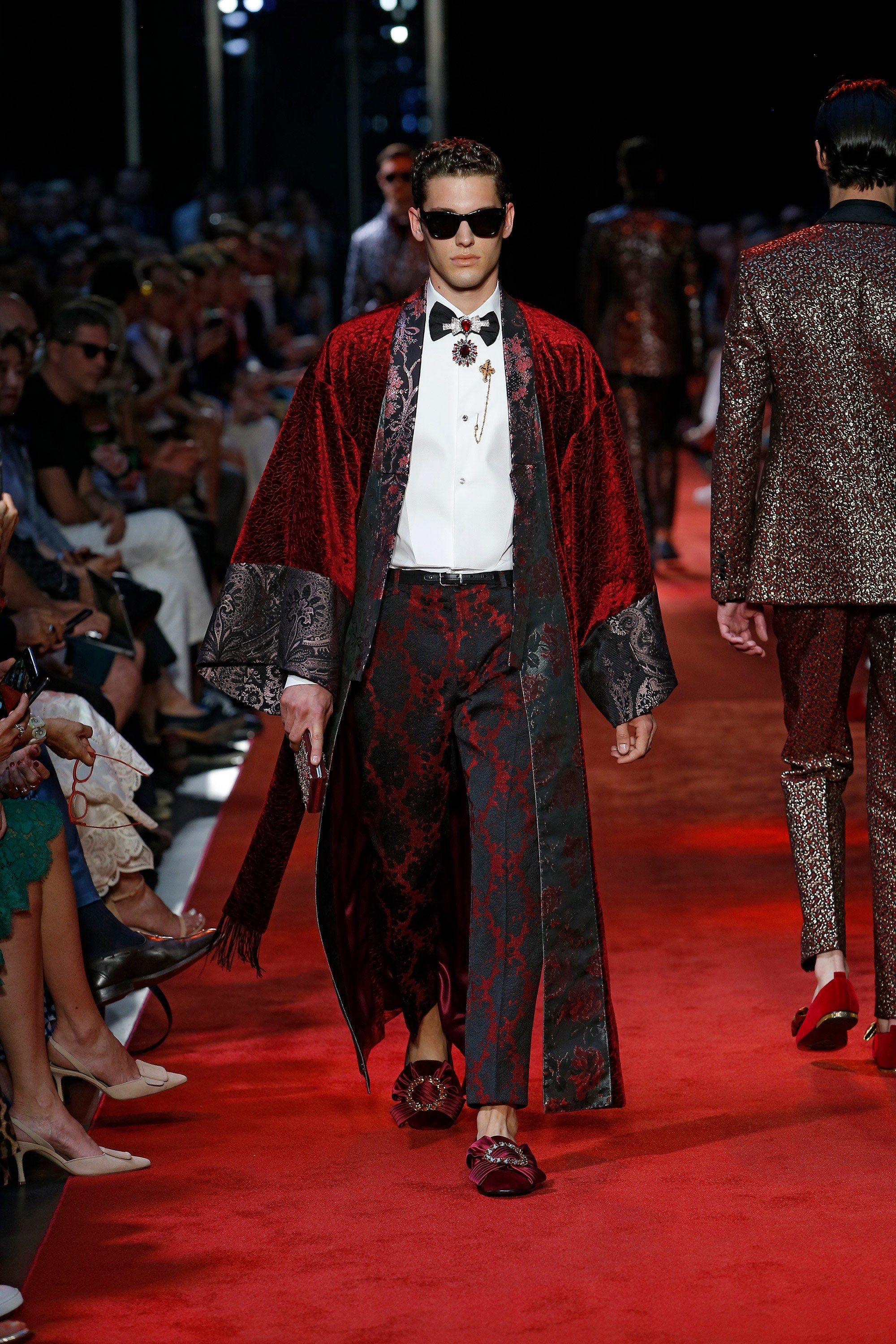 Brocade Parade Dolce Gabbana Define Their Finery With A Tailoring Show In Milan Dolce And Gabbana Milan Fashion Weeks Fashion