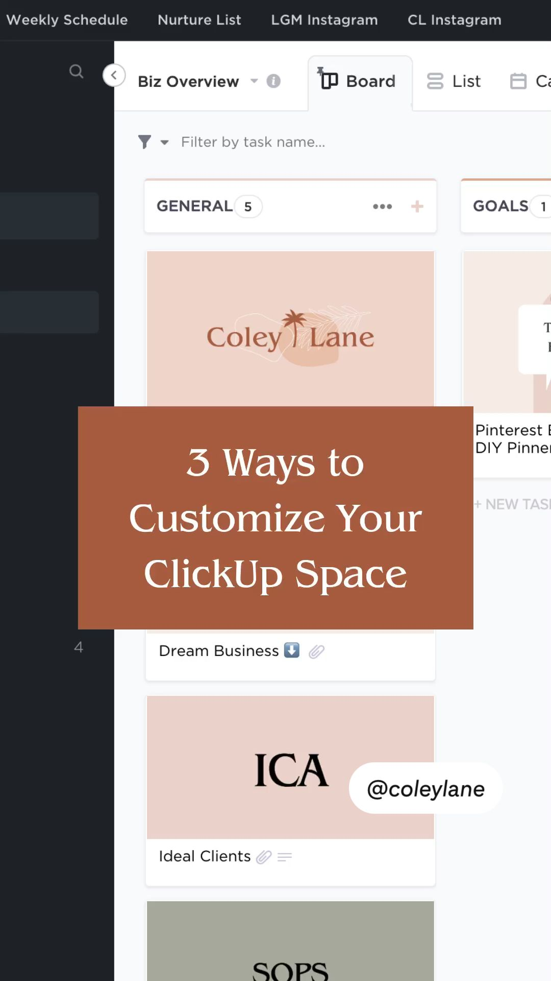 How To Customize Your Space in ClickUp