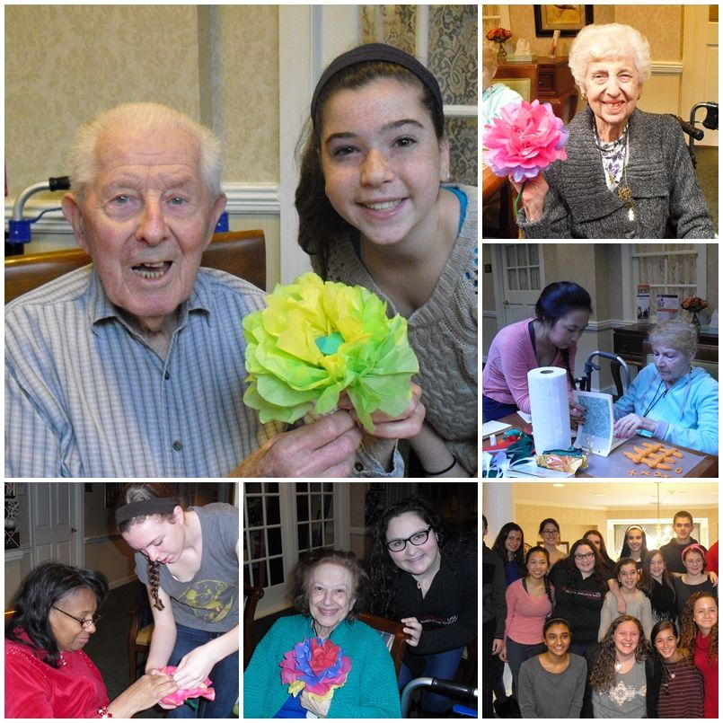 Community service is a valuable asset to anyone's career. These teens are headed in the right direction! Our SamariTeens and Beth El Voorhees USY (United Synagogue Youth) Teen Group made crafts with the Brightview Mount Laurel residents on Monday, Martin Luther King's Day of Service.  #volunteer #teens #MLKDay