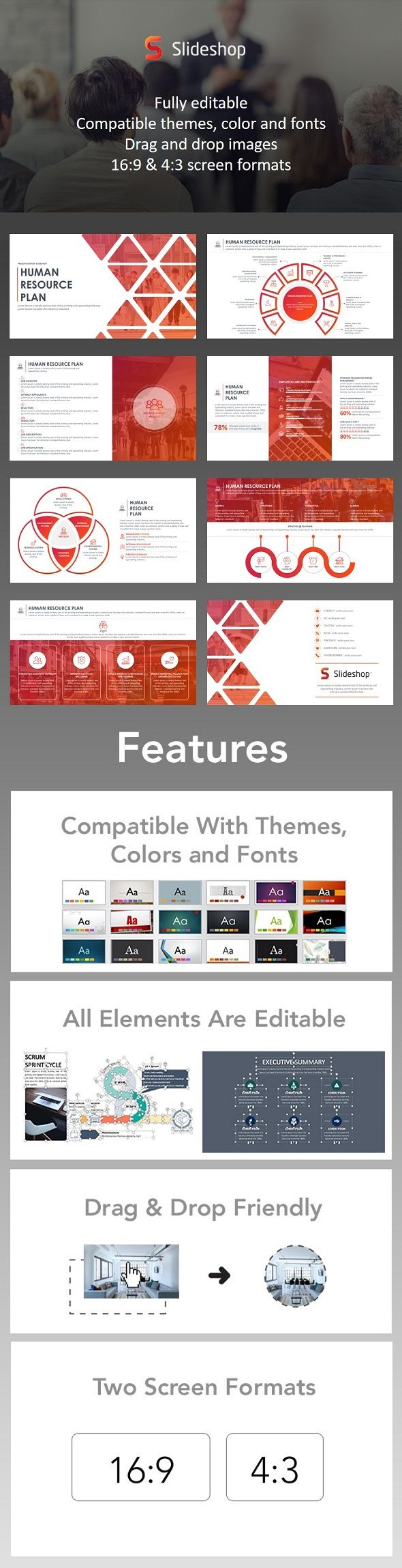 Human Resource Plan  Presentation Templates Template And Layout