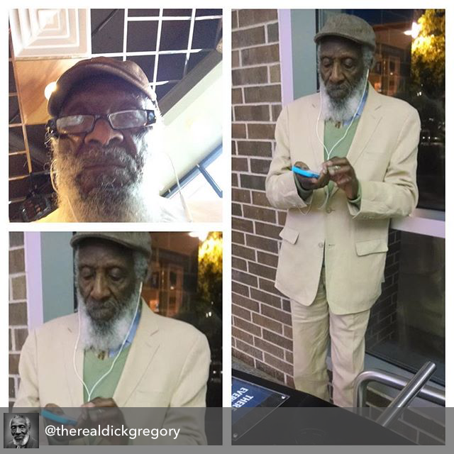 Comedian and civil rights activist Dick Gregory.