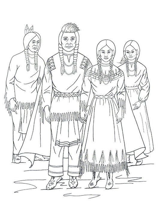 Coloring Page Nimipu Indians Horse Coloring Pages Coloring